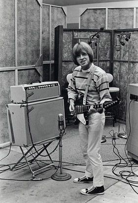 Brian Jones with his Gibson Firebird, 1965.