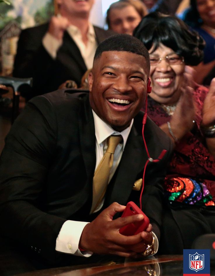 The #1 pick in the 2015 NFL Draft by the Tampa Bay Buccaneers, Jameis Winston, is proof that a smile makes for the best accessory.