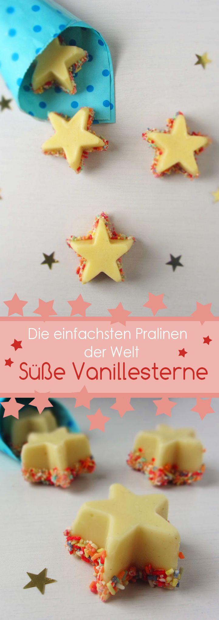 Die einfachsten Pralinen der Welt: Vanillesterne /// Easy vanille chocolate stars