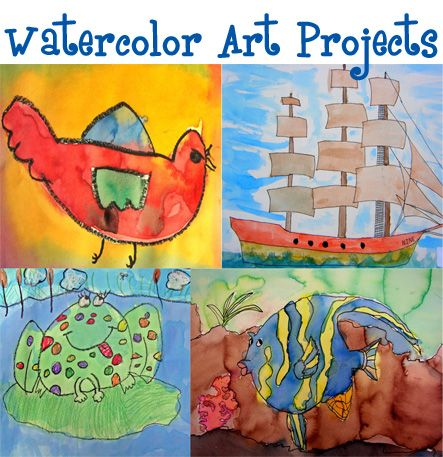 Watercolor art projects---for my GREAT nephew Rhett who loves to draw and paint