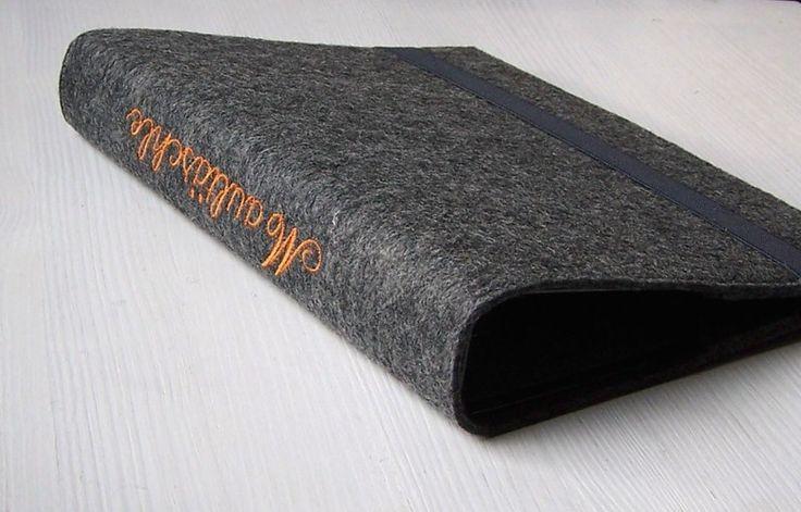 Ringbuch A5 Filz Wunschtext von Maultäschle auf DaWanda.com