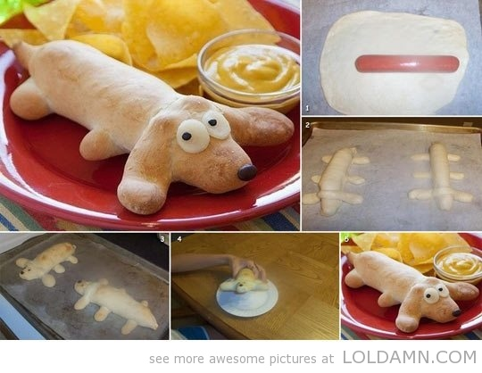 How to make a real hotdog…adorable idea for the kids