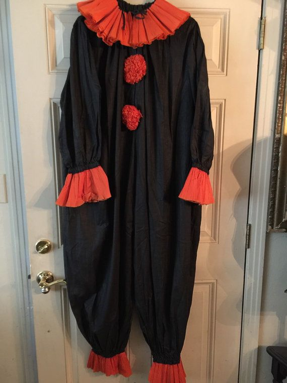 Amazing Antique Costume Outfit! Consists of clown suit and hat! It is an amazing outfit with Blackbirds! Please convo me with any questions! Thank you for looking!! Crepe clown suit Crepe hat Large nut cups Crepe rattle