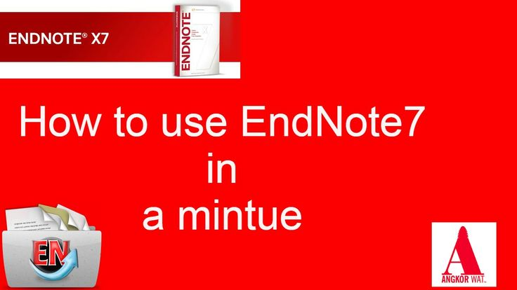 How to use EndNote7 in a minute