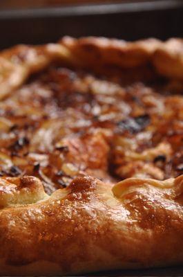 Carmelized onion tart - looks delicious!