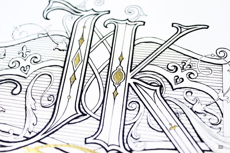 Hand Lettering Monogram Design