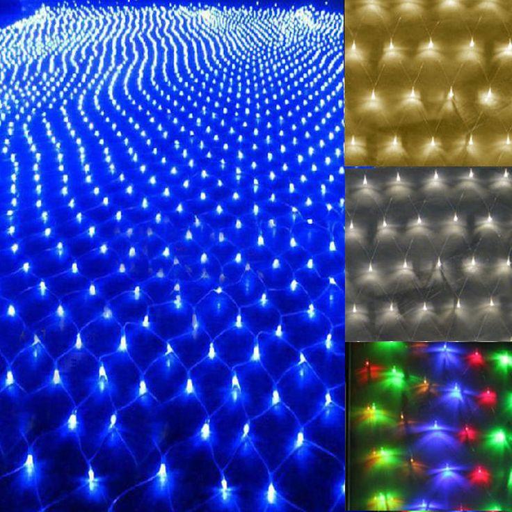 Weihnachten LED Lichternetz Lichtervorhang Innen Außen Garten Lichterkett Deko in Möbel & Wohnen, Feste & Besondere Anlässe, Jahreszeitliche Dekoration | eBay!
