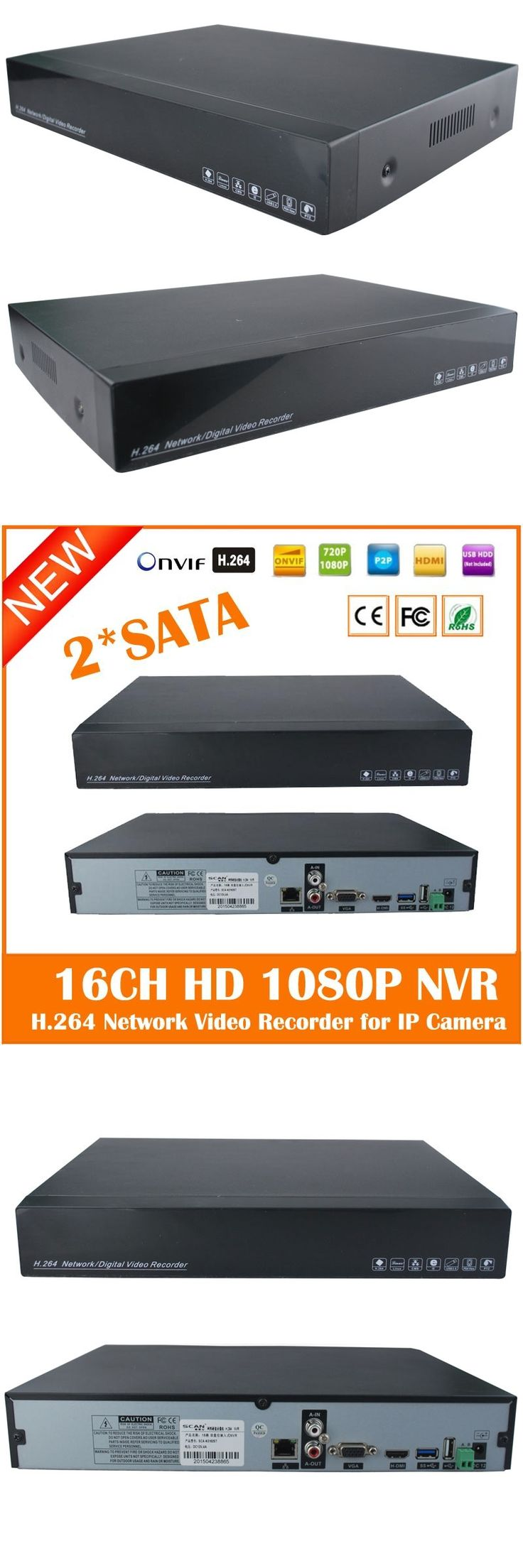 Hd 1080p Nvr16ch 2*sata Hdd Ports Onvif P2p Hdmi Vga Cctv Network Video Recorder For Ip Camera Surveillance System Freeshipping