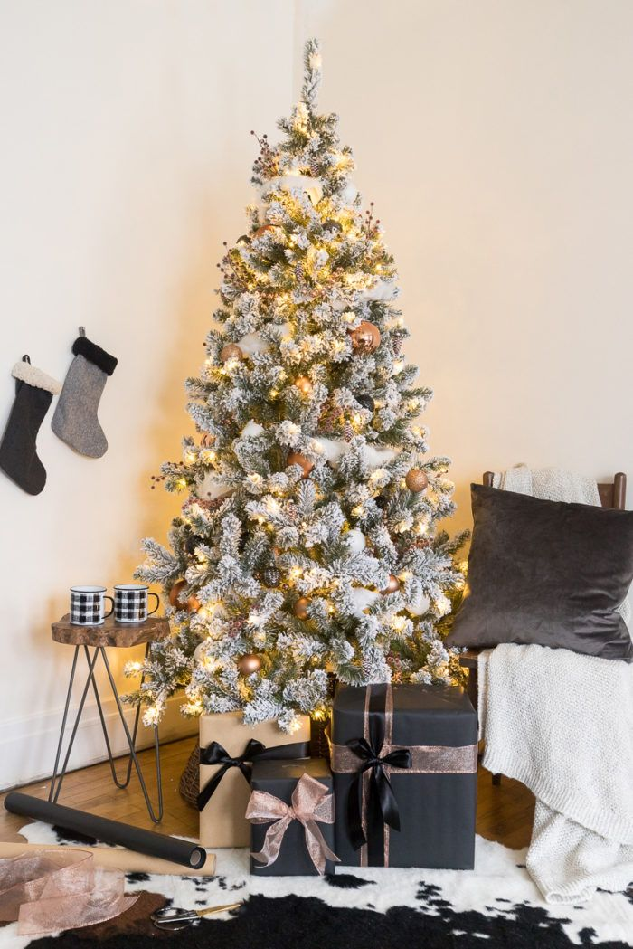 White and Copper Christmas Tree Decor | Christmas 2018 Home Tours |  Pinterest | Christmas, Christmas Tree and Christmas tree decorations - White And Copper Christmas Tree Decor Christmas 2018 Home Tours