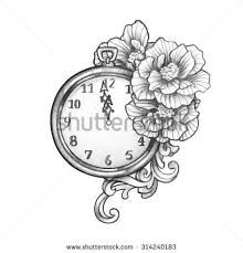 vintage clock tattoos - Google Search