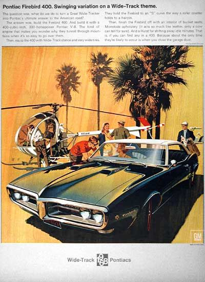 1968 Pontiac Firebird 400 Original Vintage Ad Swinging