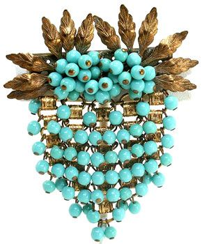 Miriam Haskell Brooch c. 1940s. Early Frank Hess Design