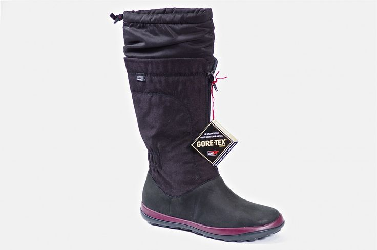 46828 by Camper - Women's Gore-Tex waterproof pull on boot.  Light weight with a falt non slip rubber sole. Light breathable insulation for additional warmth.  Order now: http://millershoes.com/shop/boot/46828/