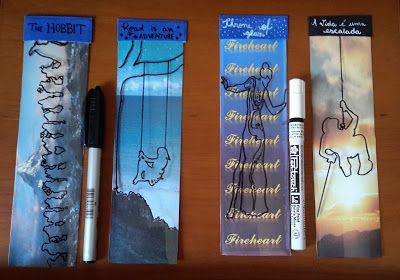 DIY - Marcadores com acetato, Throne of Glass, The Hobbit e outros - A Vida Com Brilho