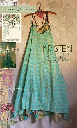PDF downloadable sewing patterns - Kristen. Tina Givens slips