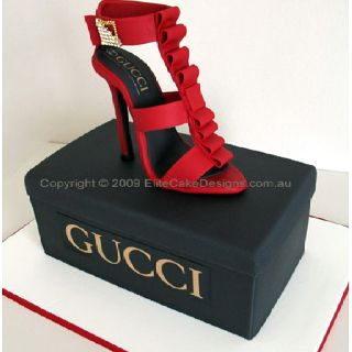 Gucci Shoe cake!