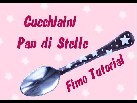 Fimo Starry Night Tea Spoon polymer clay tutorial
