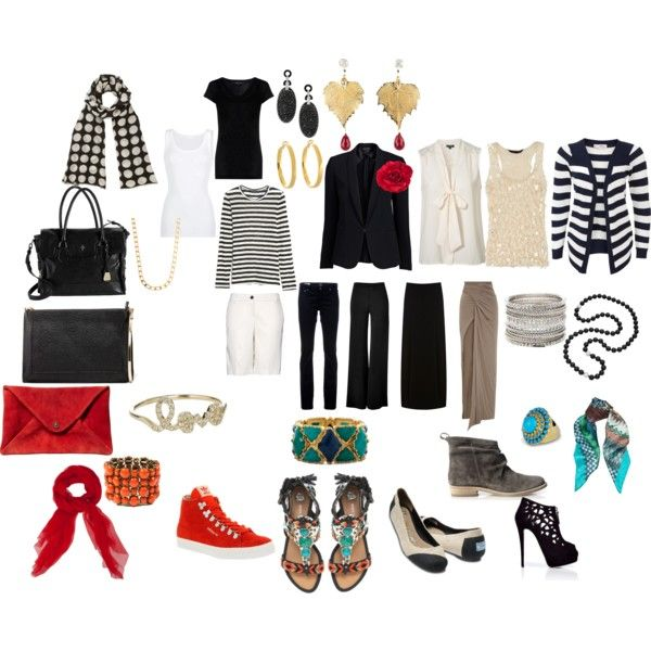 Perfect Travel Wardrobe by splenderosa on Polyvore featuring Misumi, Topshop, Proenza Schouler, American Vintage, rag & bone, Warehouse, Rick Owens Lilies, Donna Karan, MANGO and AG Adriano Goldschmied