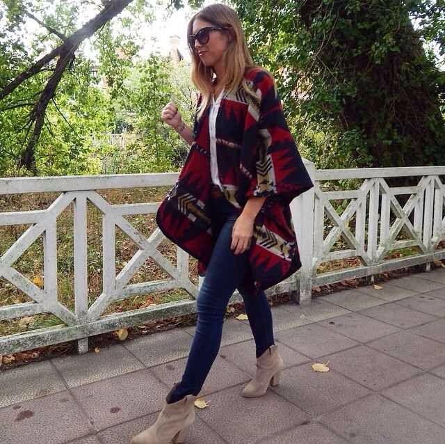Poncho capa fashion style