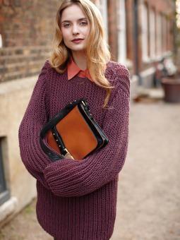 Abbey oversized Sweater rowan City knits book. boyfriend jumper- can use Rico creative cotton aran as an alternative as belle organic aran is discontinued.