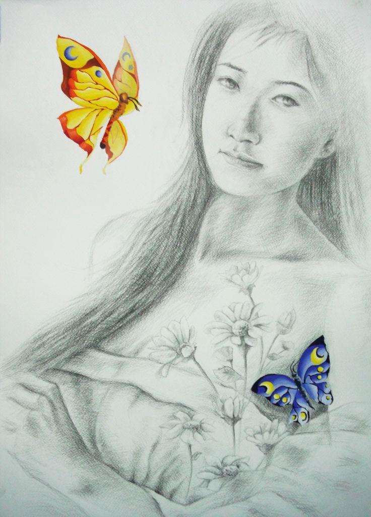 Pencil & Poster Color on Peper by Sittichai Pijitam (cycnas)