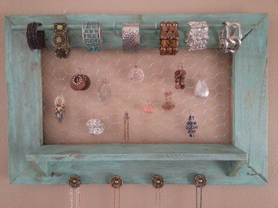 25 Best Pallet Jewelry Holder Ideas On Pinterest Diy