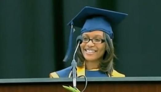 "Chelsea Fearce, a 17-year-old homeless student, graduated as valedictorian of her class at Charles Drew High School in Clayton County GA, just outside of Atlanta. She held a 4.466 GPA and scored 1900 on her SATs. She will start at Spelman College as a junior in Fall 2013. During her graduation speech, she told her fellow classmates, ""Don't give up. Do what you have to do right now, so that you can have the future that you want!"""