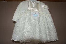 Satijn en organza jurk met bolero