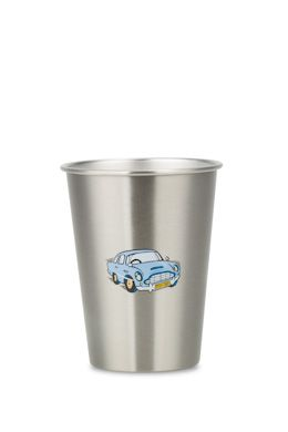 NEW VINTAGE CAR 350ml illustrated stainless steel cup from ecococoon. RRP$10.95