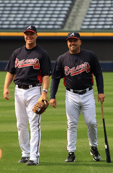 Chipper Jones and Fredi Gonzalez