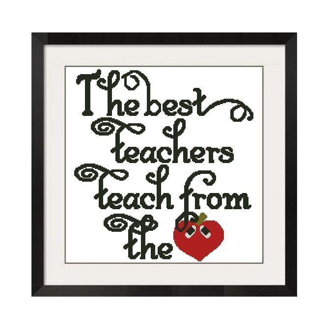 (10) Name: 'Embroidery : Best Teachers Cross Stitch -461