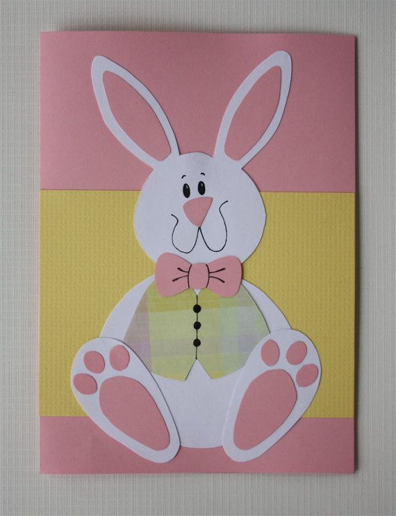 Bunny Easter Card by JerseysFreshest on Etsy, $8.00