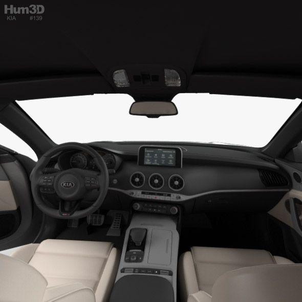 Kia Stinger Gt With Hq Interior And Engine 2017 Kia Stinger Kia Engineering