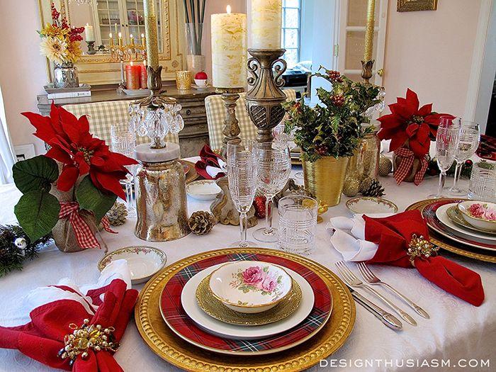 Tartan & Roses Christmas Dinner ~ Hint Valentine's Day