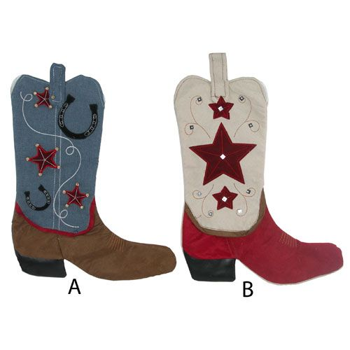 Cowboy Boot Stocking, Stockings, Christmas Stockings  For Heather and Josh