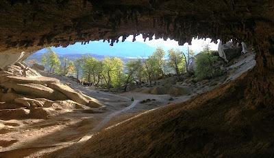 la cueva del Milodón, en Chile