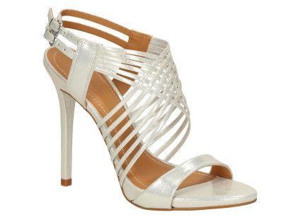 Srebrne sandały damskie