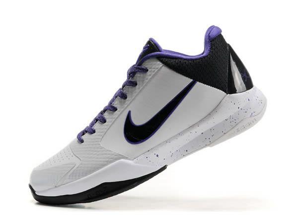 bc45da1b40 ... Nike Kobe 5 Blanc Noir Violet Nike Blazer Vintage Hi