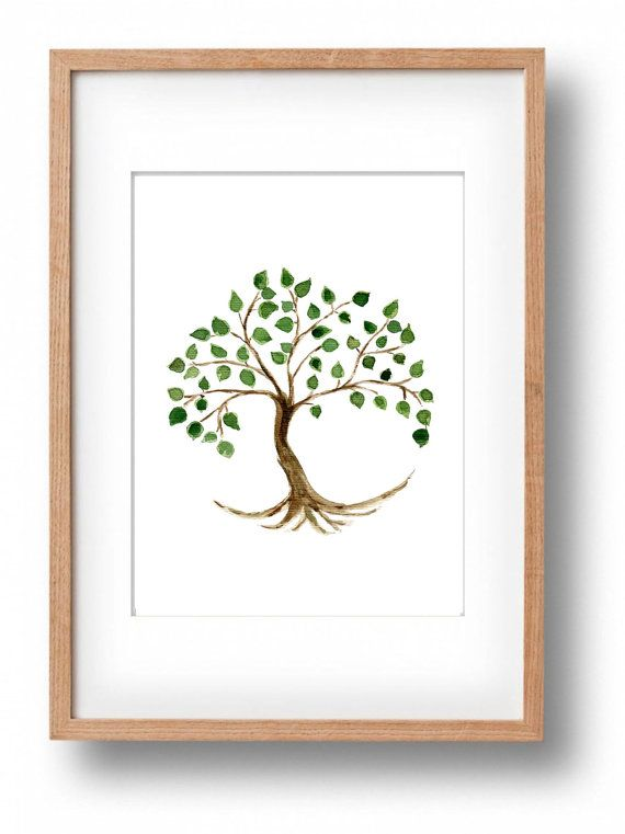 Tree of life watercolor  original painting tree by TheJoyofColor #art #treeoflife