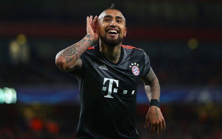 Download wallpapers Arturo Vidal, 4k, footballers, Bayern Munich, Bundesliga, soccer, football