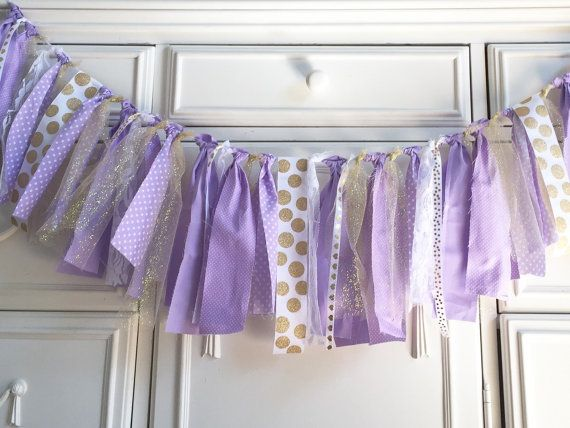 Lavender and Gold Baby Shower Lavender by PrettyBoutiqueParty