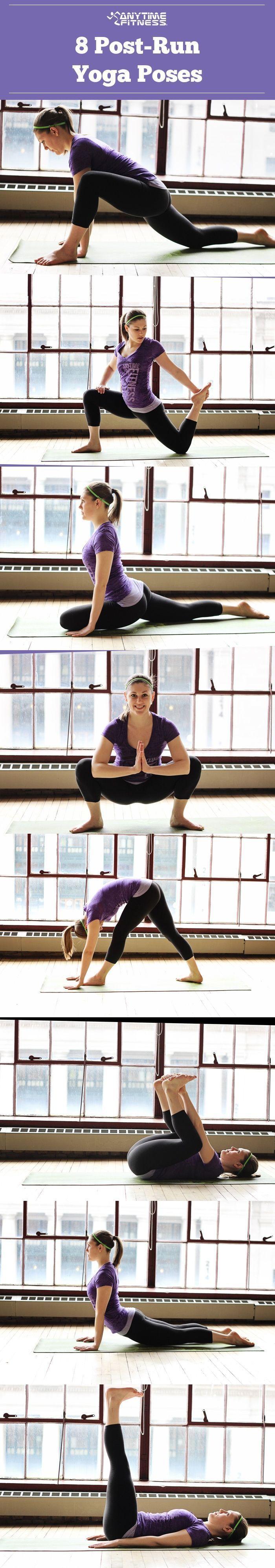 post-run yoga poses
