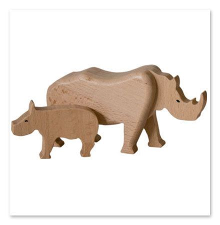 Handcrafted wooden rhino natural organic wooden toys by woodenplay, $20.00
