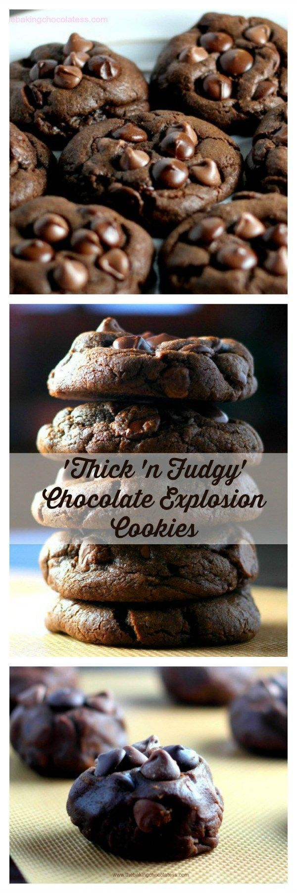 'Thick 'n Fudgy' Chocolate Explosion Cookies | Posted By: DebbieNet.com