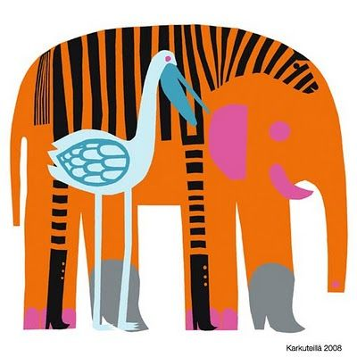 FINALLY! Proof- that in the wild, Storks and Zebras would talk to each other, and Elephants would wear cowboy boots.