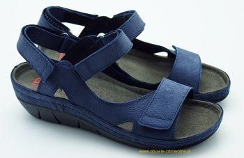 Skórzane damskie sandały Berkemann Teri 01320-335 Tęgość F z regulacją,  dla stóp raczej wąskich marki Berkemann