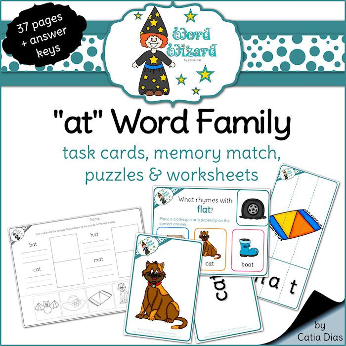 Word Families – Speech Therapy Resources