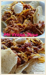 nacho chips with chicken and salsa. easiest recipe ever
