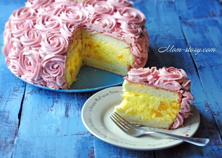 Персиковый торт шифон