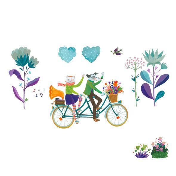 away, on a tandem bike Livia Coloji / available as limited edition giclee print